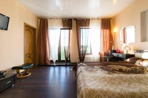 Гостиная зона в Panorama Guest House Suzdal