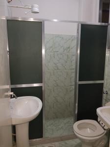 A bathroom at ICARAI V - ED ICARAI 501