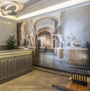 El vestíbulo o zona de recepción de Hotel Museum