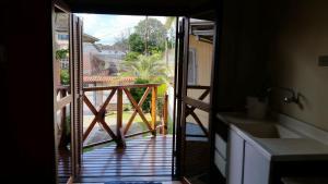 A balcony or terrace at Apartamento Um Caxias do Sul