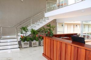 The lobby or reception area at Hotel Villa das Termas Machadinho