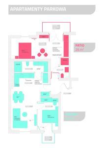 Plan piętra w obiekcie Parkowa