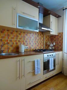 Virtuve vai virtuves zona naktsmītnē Kaktuss Apartamenti