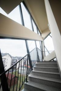 A balcony or terrace at Saline Apartments