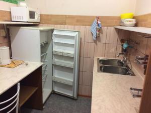 Кухня или мини-кухня в Mini hotel on Oktyabrskaya