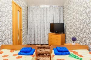 Телевизор и/или развлекательный центр в Apartment TwoPillows on Lenina 36