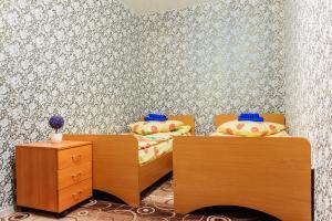 Кровать или кровати в номере Apartment TwoPillows on Lenina 36