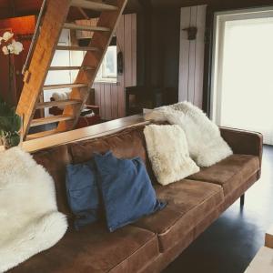 Een zitgedeelte bij Groeten uit Hoogmade - rural cottage