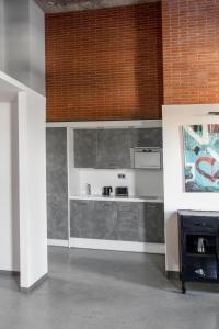 Una cocina o zona de cocina en Barcelona Apartment Republica