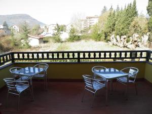 A balcony or terrace at Hotel Restaurante Aldama