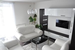 A seating area at Panorama Apartments Presov