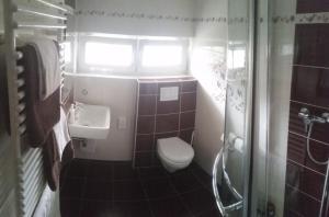 Koupelna v ubytování Vila Patricie