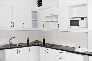 Кухня или мини-кухня в Delfines Apart Hotel