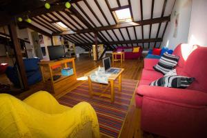 Zona de estar de Hotel Rural la Estación del Alma