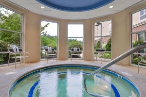 The swimming pool at or near Hampton Inn & Suites by Hilton Plymouth