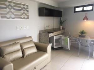 A seating area at Residência Tabatinga