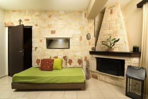 A seating area at Home Suites