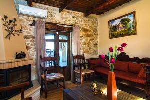 A seating area at Villa Morfeas
