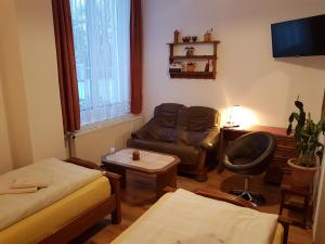 A seating area at Landhaus Dargelin