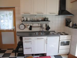 Küche/Küchenzeile in der Unterkunft Ferienwohnung Spessart