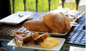 Breakfast options available to guests at Hotel Corallo