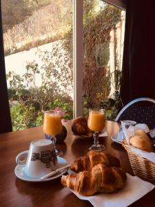 Breakfast options available to guests at Hôtel Sampiero