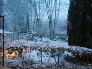 Au Jardin de Lisa during the winter