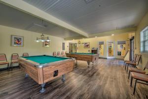 A billiards table at Homosassa River RV Resort