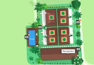 Grundriss der Unterkunft Good Mood Resort