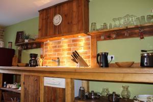 Küche/Küchenzeile in der Unterkunft Haus62