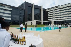 The swimming pool at or near Grand Hotel Djibloho