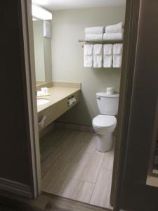 A bathroom at The Fredericton Inn