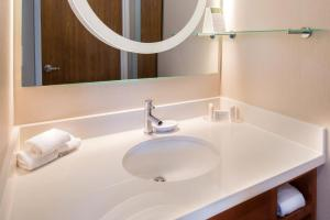 A bathroom at SpringHill Suites Pittsburgh Southside Works
