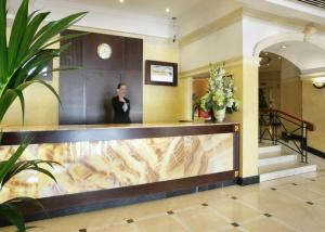 The lobby or reception area at Chelsea Plaza Hotel