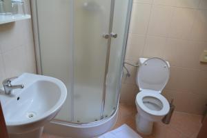 Kúpeľňa v ubytovaní Penzion na Potočnej