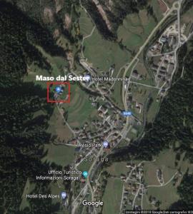 A bird's-eye view of Maso dal Sester