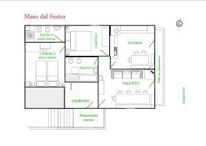 The floor plan of Maso dal Sester