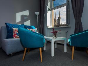 Een zitgedeelte bij Dolac One Apartments
