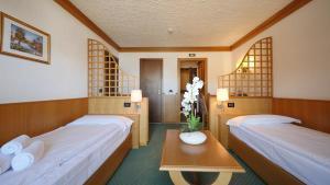 Postel nebo postele na pokoji v ubytování Hotel Intermonti