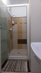 A bathroom at Luxury Air-Conditioned rooms in Old Town Bratislava