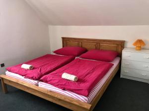 Postel nebo postele na pokoji v ubytování Chata Hella