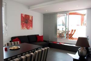 Zona de estar de Sant Pau Apartments