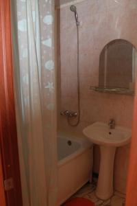 A bathroom at Hotel Irkut