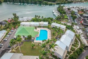A bird's-eye view of Hotel Village Soleil