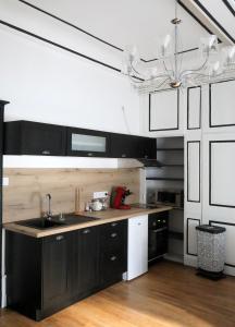 Cuisine ou kitchenette dans l'établissement Appartement Le roi