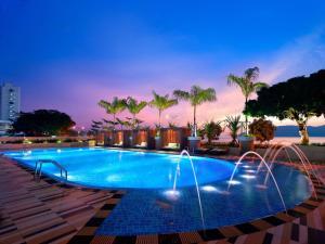 The swimming pool at or near Hyatt Regency Kinabalu
