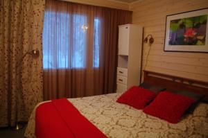 Vuode tai vuoteita majoituspaikassa Aneen Loma Vacation and Cottages