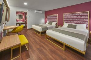 A bed or beds in a room at City Centro Oaxaca