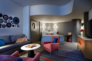 A seating area at Universal's Hard Rock Hotel®