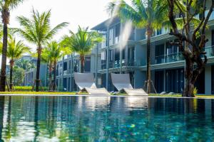 The swimming pool at or near Baan Mai Khao 5 stars condominimum